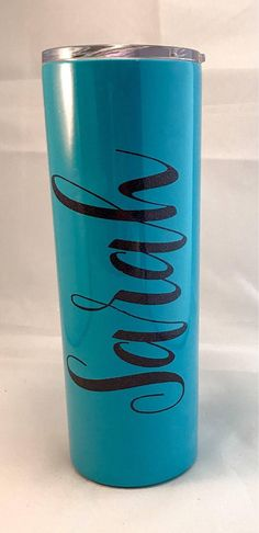 Stainless Tumbler, Monogrammed Steel Cup, Skinny #weddings #decoration @EtsyMktgTool http://etsy.me/2agk5yW