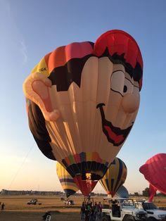 Welcome Pilot John Viner of Nottinghamshire, Great Britain. John flies the balloon, Boy Balloon. #BalloonFiesta