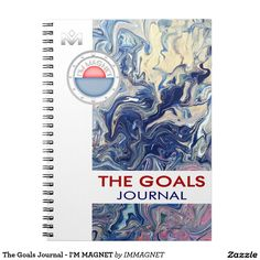 The Goals Journal - I'M MAGNET Spiral Note Books