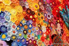 A field of crochet flowers   July   2011   FestivalGirl.com.au