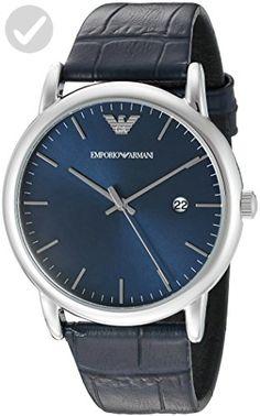 Emporio Armani Men's AR2501 Dress Blue Leather Quartz Watch - Mens world (*Amazon Partner-Link)
