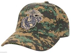 usmc cap marines us marine corps ballcap woodland digital camo rothco 98827 #ad