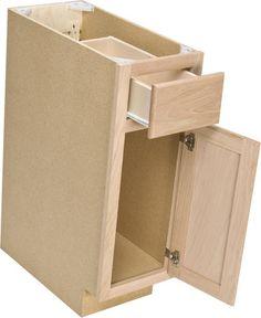 Quality One 12 X 34 1 2 Unfinished Oak Base Cabinet Unfinished Kitchen