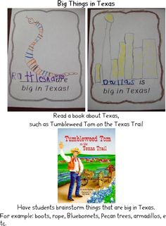 Writing- _____________is big in Texas. Ex. Rattlesnakes and Houston!