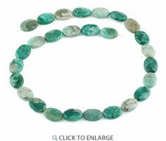 11x15MM Green Turquoise Jasper Oval Gemstone Beads * $5.48