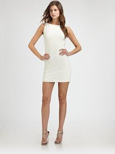 I want this dress!  Mark + James by Badgley Mischka - Beaded Back Dress - Saks.com