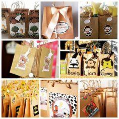 SACOLAS KRAFT PARA LEMBRANCINHAS!!! Ficam lindas customizadas! Estão à venda aqui: http://www.aluafestas.com.br/sacola-de-papel-parda