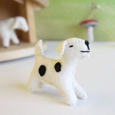 Gluckskafer felt dog by Gluckskafer - Cottontails
