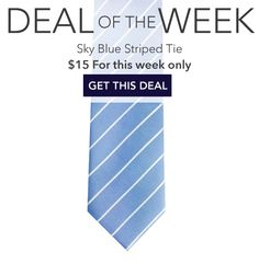 Elegant Summer Silk Tie in Sky Blue and White - This light blue striped tie is the perfect addition to your summer wardrobe. The light blue color, paired with the narrow white stripes, creates an eleg Beach Wedding Groom, Light Blue Color, September 2014, Silk Ties, Budget, Menswear, Blue And White, Sky, Elegant