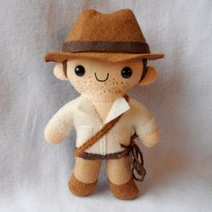 Indiana Jones plush by Michelle Coffee