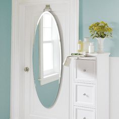 Over-door Beveled Door Mirror $179