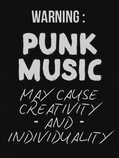 To all the punk haters: