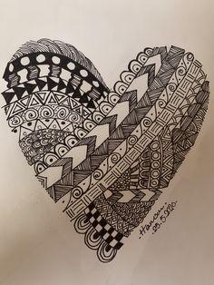 Easy Doodle Art, Doodle Art Drawing, Mandala Drawing, Fashion Illustration Sketches, Art Drawings Sketches, Zentangle Patterns, Zentangles, Heart Doodle, Ornament Drawing