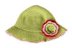 Chapéu para menina em Croché Summer crochet hat for girl