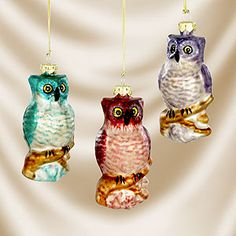Glass owl ornament set of 3 $11.97 from World Market