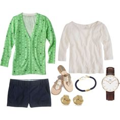 Oh Whale by girlinthepearls on Polyvore featuring J.Crew, Jack Rogers and Tiffany & Co.