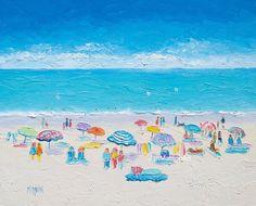 Beach Art Impressionist Beach painting Beach decor by JanMatsonArt