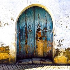 Ageless door in Tunis. Gorgeous time piece of art. #Tunisia
