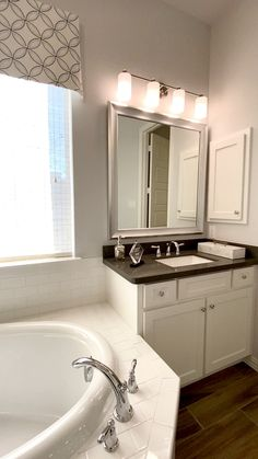 Master Bath with Split vanities