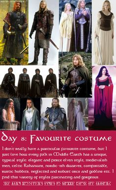 Middle Earth Challenge: favourite caostume