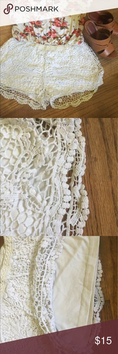 Soft Lacey Shorts #A10K_10 Cute lace shorts with Cotton lining. Mossimo Supply Co Shorts