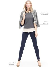 Love this outfit, graphic sweater and ankle pants! ANN TAYLOR'S TOP TEN MUST-HAVE LOOKS