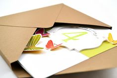 Awesome tutorial for making your own envelope for those thicker cards!   Jen Rzasa