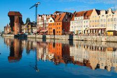 Gdańsk, Poland, located along the Baltic Sea
