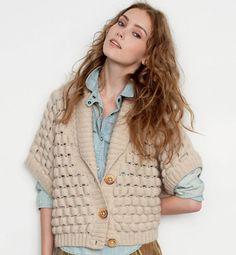 Modèle gilet kimono court - Modèles tricot femme - Phildar