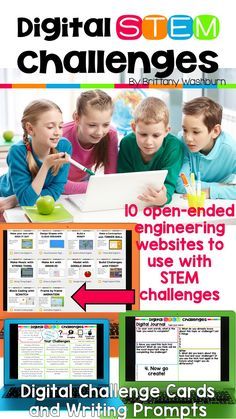 STEM goes digital with these fun and engaging design challenges. 10 websites and 90 challenges perfect for grades 3 and up. If you are in a paperless classroom or 1:1 with laptops or Chromebooks then these are ideal for you, but can also be used during co