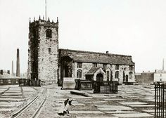 Bolton Parish Church 1873 - postcard image