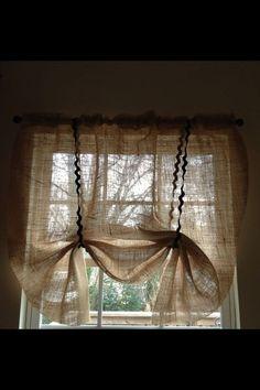 Burlap Curtain by Sellingfaith on Etsy, $15.00