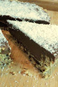 Vegan chocolate tart http://wp.me/p30QLi-39
