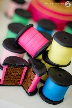 picture only, for the idea... thinking cake with oreos for the end, and frosting or thin candy strings for the string???