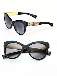Dolce & Gabbana Modified Cat's-Eye Sunglasses RonitStylist