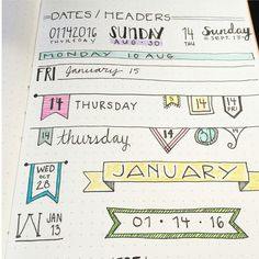Bullet journal headers help your bujo titles stand out. Check out these examples of different bujo fonts, banners, and headers to copy in your journal. Bullet Journal Banners, Bullet Journal 2018, My Journal, Bullet Journal Inspiration, Journal Pages, Bullet Journals, Journal Ideas, Journal Diary, Diy Planner