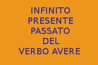 VERBO AVERE - INFINITO PRESENTE E PASSATO DEL VERBO AVERE - 10 FRASI
