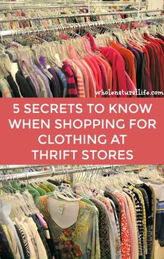 5 Secrets for Success When Shopping for Used Clothing at Thrift Stores – Whole Natural Life – Second Hand fashion Thrift Store Outfits, Thrift Store Fashion, Thrift Store Shopping, Thrift Store Crafts, Thrift Store Finds, Shopping Hacks, Thrift Stores, Thrift Shop Outfit, Goodwill Finds