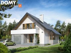 Amulet projekt domu - Jesteśmy AUTOREM - DOMY w Stylu Home Fashion, Smart Home, Sliders, Shed, Outdoor Structures, House Design, House Styles, Outdoor Decor, Houses