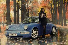 964 #porsche #cargirl
