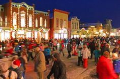 Downtown Breckenridge turned into a winter wonderland after the Lighting of Breckenridge
