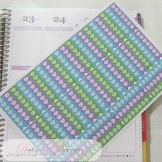 Hearts Checklist Flags-Aqua-Purple-Green Set by PrettylilPlanners