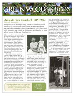 Greenwood Gardens Newsletter Spring 2016
