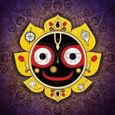 Jagannath. Indian God of the Universe. Lord Jagannatha. Stock Photo