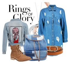 """Blue in blue"" by lula-kruta ❤ liked on Polyvore featuring Tiffany & Co., Boohoo, Karen Millen, UNIONBAY and Wet Seal"