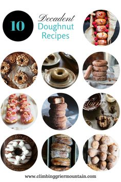 ten decadent doughnut recipes www.climbinggriermountain.com