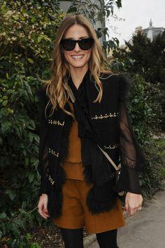 Olivia Palermo à la Fashion Week de Paris, le 2 mars 2014