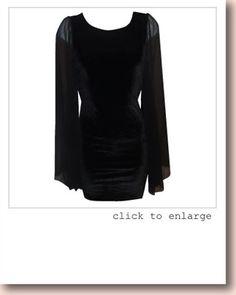 PRETTY DISTURBIA BURLESQUE UNUSUAL GOTHIC VELVET DRESS- BLACK