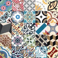 Mosaic Del Sur, цементная плитка 20х20см, patchworks Aleatorio
