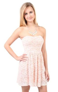 Deb Shops #peach #lace #dress